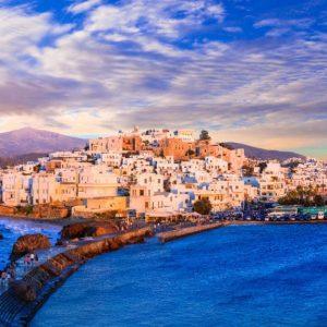 Naxos island sailing